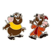 Disney Parks Jaq and Gus from Cinderella Pin Set New with Card
