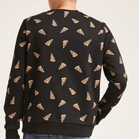 Pizza Print Sweatshirt