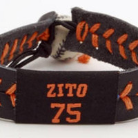 Gamewear MLB Leather Wrist Band - Zito Team Colors
