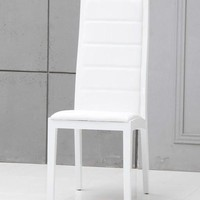 Modrest 9007 - Contemporary White Leatherette Dining Chair (set of 2)