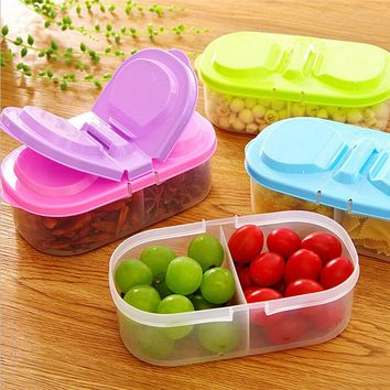 FDA Plastic PP Kitchen Food Storage Boxes Spices Sugar Beans Jar Container with Lid Condiment Holders 2 Lattice