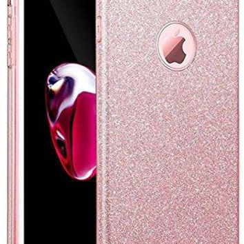 iPhone 7 Plus Case, Eraglow iPhone 7 Plus Back Cover Sparkle Shinning Protective Bumper Bling Glitter Case for 5.5 inches iPhone 7 Plus (rose gold)