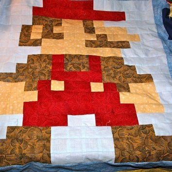 CUSTOM Lil Geek 8-Bit Video Game Quilt - Crib Sized