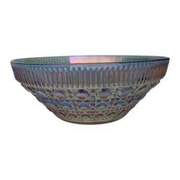 Pre-owned Vintage Iridescent Glass Bowl