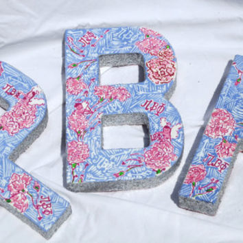 Pi Beta Phi- Lilly Pulitzer Inspired Sorority Letters