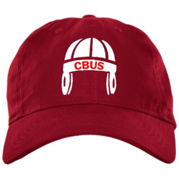 Columbus Football Brushed Twill Unstructured Embroidered Dad Cap