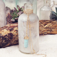 Sands of Time Necklace in Turquoise