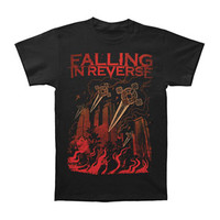 Falling In Reverse Men's  City Crosses Slim Fit T-shirt Black