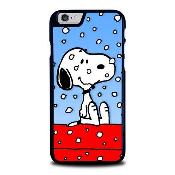 snoopy dog christmas iphone 6 6s case cover  number 1