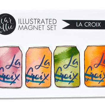 LaCroix Illustrated Magnet - Set of 4