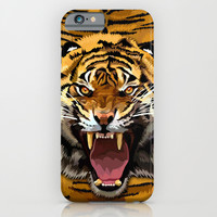 Tiger Roar iPhone 4 4s 5 5c 6, pillow case, mugs and tshirt iPhone & iPod Case by Three Second