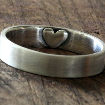 Secret heart wedding ring