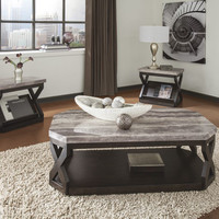 Radilyn Contemporary Gray Coffee Table Set