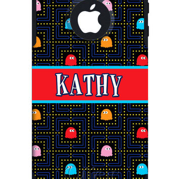 OTTERBOX COMMUTER iPhone 5 5S 5C 4/4S Case Custom Pacman Pac-man Personalized Monogram