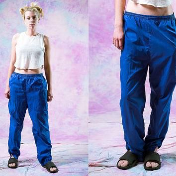 vtg 90's adidas purple blue sports pants, 1980s neon womens active wear, 1990s vintage