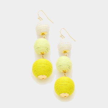 Graduated Ball Drop Earrings