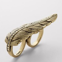 FOSSIL?- Jewelry Rings:Womens Rare Feather Ring Size 7 JA4779