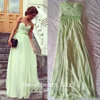 Sweetheart Floor Length Prom Dress/Graduation Dress