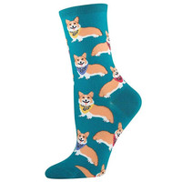 Corgi Socks (Teal)