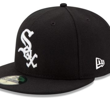 Men's Chicago White Sox New Era Black Game Authentic Collection On-Field 59FIFTY Fitted Hat