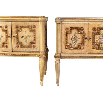 Painted Italian Nightstands, Pair