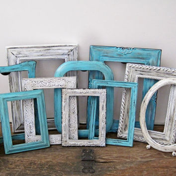 Rustic Chic Wedding Table Number Frames Antique Style Set of 10