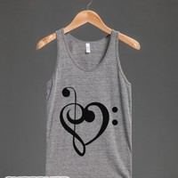 Love Music Tank-Unisex Athletic Grey Tank