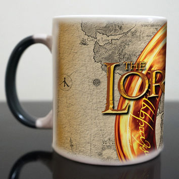 The Lord of The Rings mugs lotr mugs coffee mugs transforming novelty heat changing color tea cups Vilya  The Ring of Air