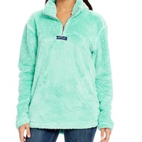 Lauren James Linden Faux-Sherpa Partial-Zip Fleece Pullover | Dillards