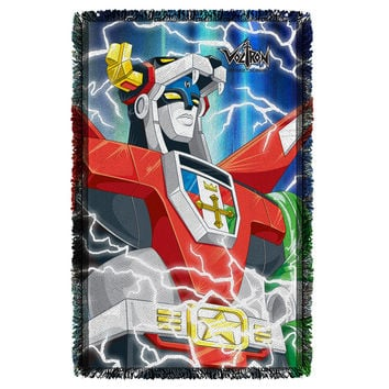 Voltron Lightning Combine Woven Throw Sublimated Tapestry
