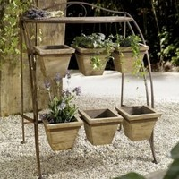 Metal Plant Stand for Outdoor or Greenhouse, Two Tiers Product SKU: PL221583