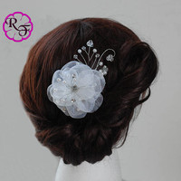 Bridal hair accessory , wedding tone comb Flower , Beautiful white Flowers . hair accessory , Bridal hair piece ,  wedding hair flower, prom
