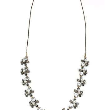 Fashion Faux Pearl Rhinestone Long Necklace