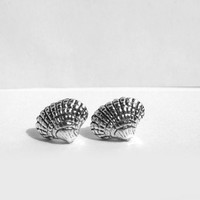 Little Shell Stud Earrings, Tiny Sterling Silver Post Earring, Shells, Sterling Silver, Nautical Earrings, Seashell Nautical Jewelry, Artida