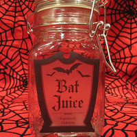 Bat Juice Glass Apothecary Jar