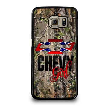 CAMO BROWNING REBEL CHEVY GIRL Samsung Galaxy S6 Case Cover