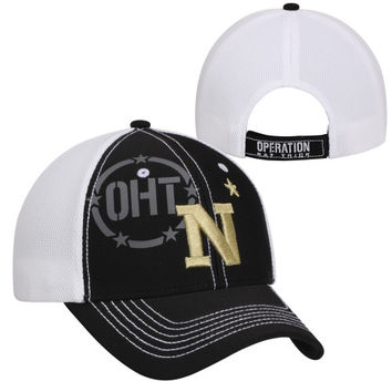 47 Brand Navy Midshipmen Operation Hat Trick Mikita Adjustable Hat - Black/White