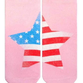 Faded Flag Ankle Socks