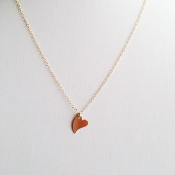 Will you Be My Bridesmaid? 14k Gold Filled Heart Necklace