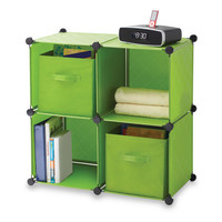 Cube Grid with 2 Bins - Green - Bed Bath & Beyond