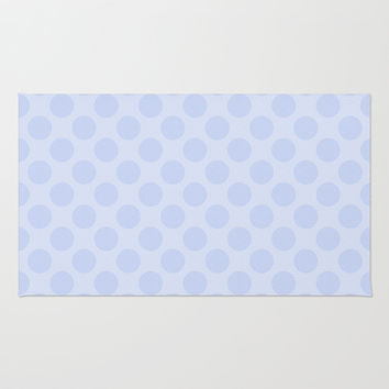 Pale Purple Polka Dot  Rug by KCavender Designs