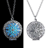 Amazing Bright Glow in the Dark Star Locket Pendant Necklace