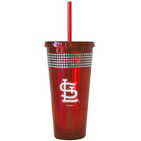 St. Louis Cardinals 22oz Bling Straw Tumbler