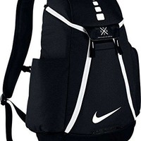 Nike Hoops Elite Max Air Team Backpack with ultradurable water-resistant polyester, Dedicated sleeve, Perfect for Sports and Travel (Black 12)