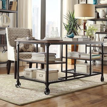 Nelson Industrial Modern Rustic Storage Desk by TRIBECCA HOME | Overstock.com Shopping - The Best Deals on Desks