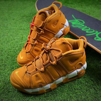 Best Online Sale Nike Air More Uptempo QS Wheat / White Basketball Shoes Sneaker