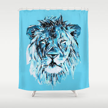 Lion Shower Curtain by Nuam