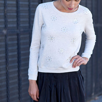 Embellished Knit Pullover