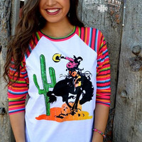 Serape Sleeved Baseball Tee