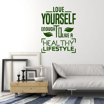 Vinyl Wall Decal Healthy Lifestyle Quote Diet Health Inspire Medical Office Stickers Mural (ig5593)